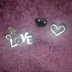 Jewelry - Sterling Silver Love Earring Studs